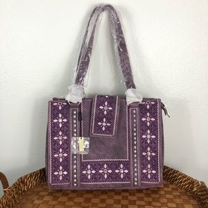 Montana West purple studded Concealed Carry bag
